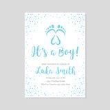 Baby shower invitation card. Vector illustration royalty free illustration
