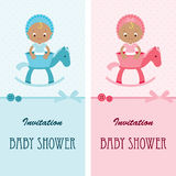 Baby shower invitation cards Royalty Free Stock Photos