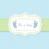 Baby shower invitation design in blue and green Stock Photography