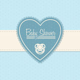 Baby shower invitation design in blue Royalty Free Stock Photos