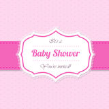 Baby shower invitation design in pink Royalty Free Stock Photography