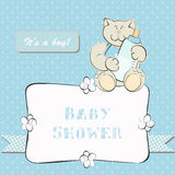 Baby Shower Invitation with Dot Background Royalty Free Stock Photos