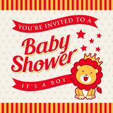Baby Shower invitation. EPS 10 File and large jpg included Stock Image
