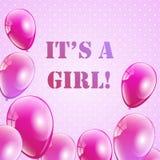 Baby shower invitation for girls. Stock Image