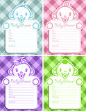 Baby shower invitation greeting cards Stock Photography
