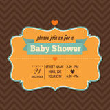 Baby shower invitation in retro style Royalty Free Stock Photography