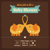 Baby shower invitation in retro style Royalty Free Stock Images