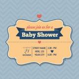 Baby shower invitation in retro style Stock Image