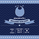 Baby shower invitation in retro style Royalty Free Stock Image