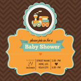 Baby shower invitation in retro style Stock Images