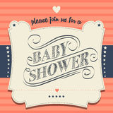 Baby shower invitation in retro style Stock Photo