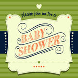 Baby shower invitation in retro style Stock Image