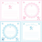 Baby Shower Invitation Template Stock Photography