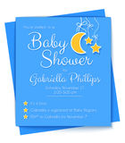 Baby Shower Invitation Template Stock Photo