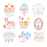 Baby Shower Invitation Template In Pastel Colors Set Of Designs Stock Photography
