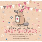 Baby shower invitation template. Stock Images