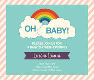 Baby Shower Invitation Template Stock Image