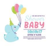 Baby shower invitation vector card Royalty Free Stock Photo