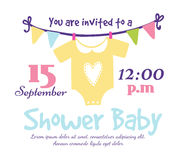 Baby shower invitation vector card Stock Image