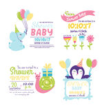 Baby shower invitation vector card Royalty Free Stock Image