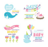Baby shower invitation vector card Stock Images