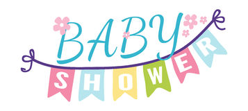 Baby shower invitation vector card Royalty Free Stock Images