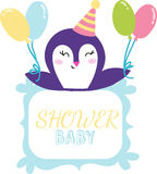 Baby shower invitation vector card Royalty Free Stock Photography