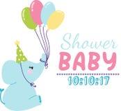 Baby shower invitation vector card Stock Photos