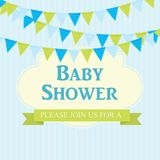 Baby Shower Invitation Vector Illustration Royalty Free Stock Photography