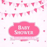 Baby Shower Invitation Vector Illustration Stock Image