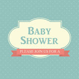 Baby Shower Invitation Vector Illustration Royalty Free Stock Image