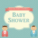 Baby Shower Invitation Vector Illustration Stock Photography