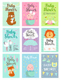 Baby shower invitation vector set. Stock Images