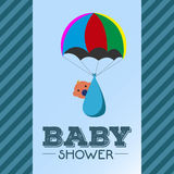 Baby shower invitational card Royalty Free Stock Image