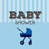 Baby shower invitational card Royalty Free Stock Images
