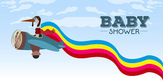 Baby shower invitational card Stock Photo