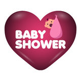 Baby shower invitational card Stock Images