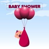 Baby shower invitational card Royalty Free Stock Photo