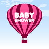Baby shower invitational card Royalty Free Stock Photos