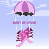 Baby shower invitational card Stock Photos