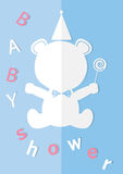 Baby shower invitations cards,poster,greeting,template,bear,Vector illustrations Stock Photos