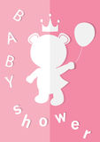 Baby shower invitations cards,poster,greeting,template,bear,Vector illustrations Stock Image