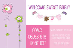 Baby Shower Invite Royalty Free Stock Photos