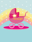 Baby shower - Its a girl. Royalty Free Stock Photo