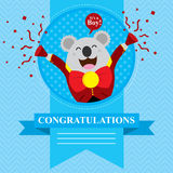 Baby Shower Koala Royalty Free Stock Images