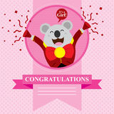 Baby Shower Koala Stock Image