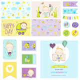Baby Shower Little Boy Set for Party Decoration, Baby Shower Stock Photography