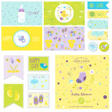 Baby Shower Little Boy Set Stock Image
