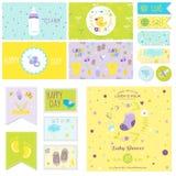 Baby Shower Little Boy Set stock illustration