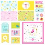Baby Shower Little Girl Set Stock Images